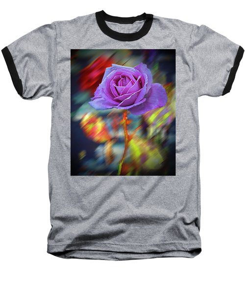 Baseball T-Shirt featuring the photograph A Rose by Vladimir Kholostykh