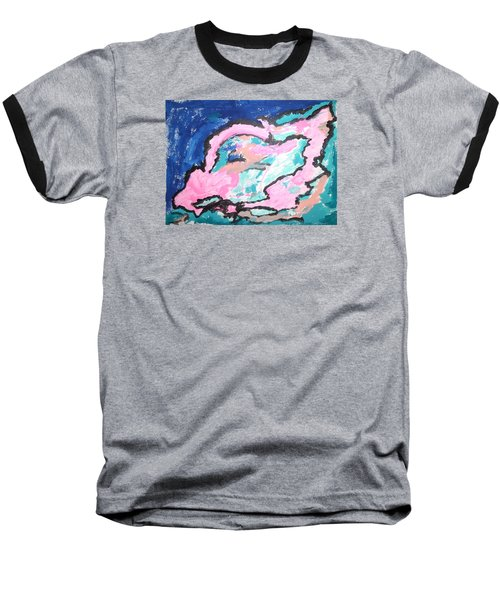 A Rosy Experience Baseball T-Shirt by Esther Newman-Cohen