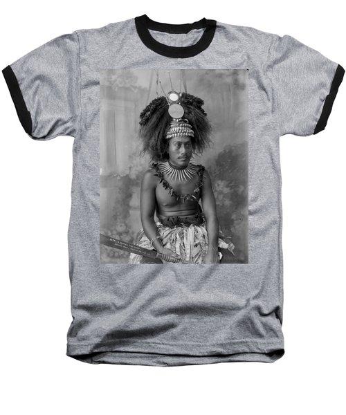 A Samoan High Chief Baseball T-Shirt