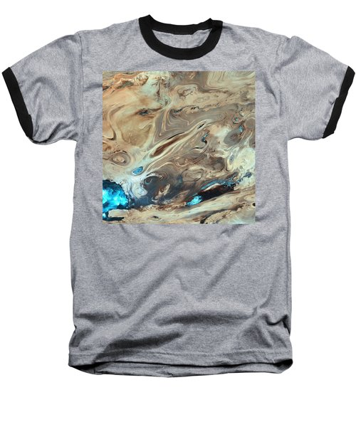 A Satellite Picture Of The Dasht-e Kavir Desert In Iran. Baseball T-Shirt