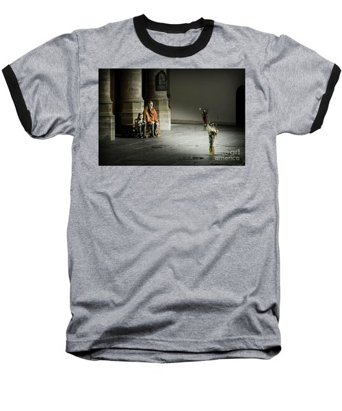 Baseball T-Shirt featuring the photograph A Scene In Oude Kerk Amsterdam by RicardMN Photography