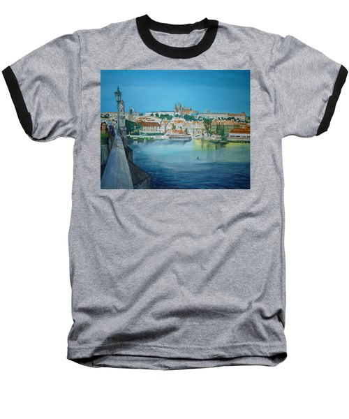 A Scene In Prague 3 Baseball T-Shirt by Bryan Bustard