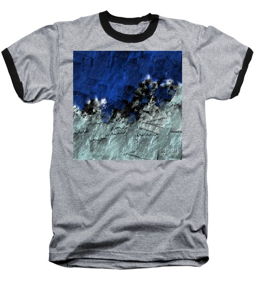 Baseball T-Shirt featuring the digital art A Sea Storm In My Heart by Silvia Ganora