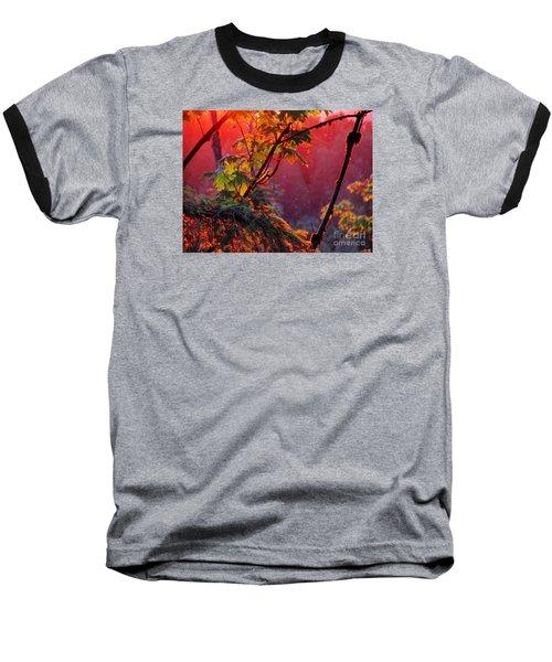 A Season's  Sunset Dusting Baseball T-Shirt