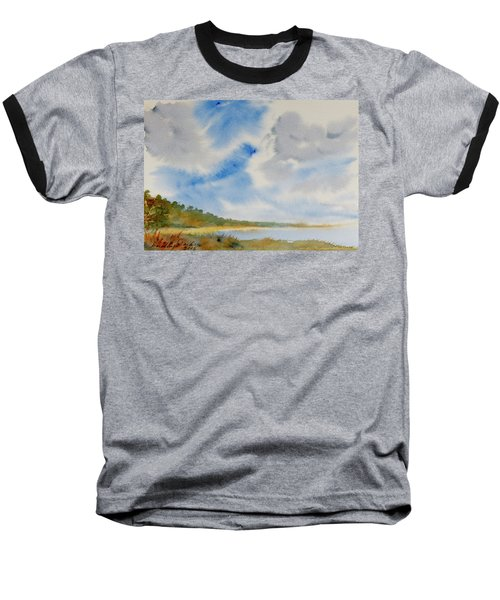 A Secluded Inlet Beneath Billowing Clouds Baseball T-Shirt