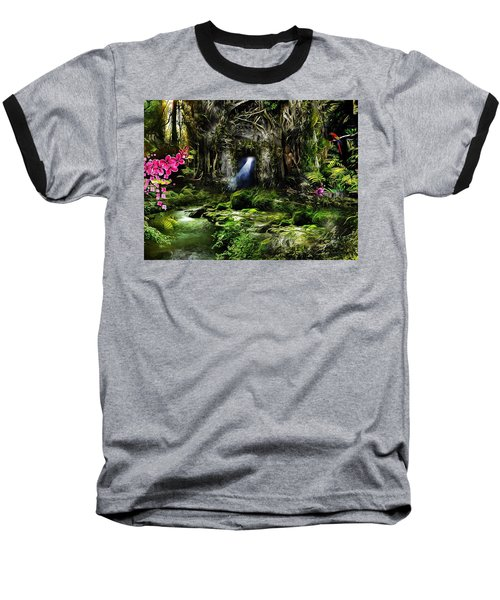 A Secret Place Baseball T-Shirt by Gabriella Weninger - David