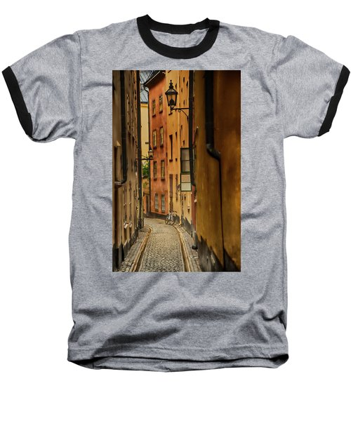 A Side Street In Stockholm Baseball T-Shirt