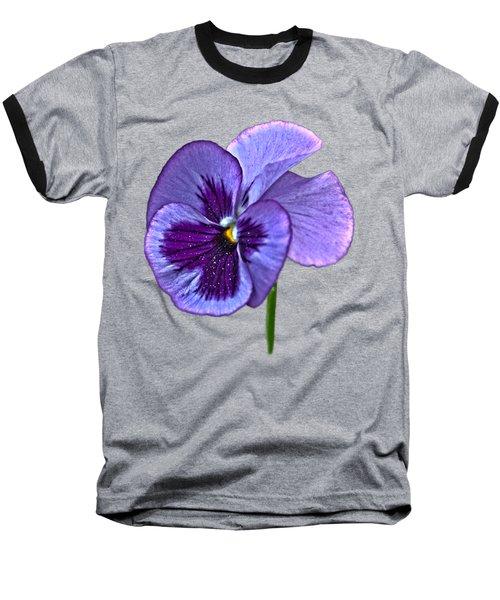 A Single Purple Pansy On A Transparent Background Baseball T-Shirt