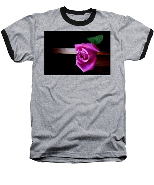 A Single Rose Baseball T-Shirt