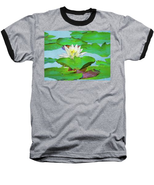 A Single Water Lily Blossom Baseball T-Shirt