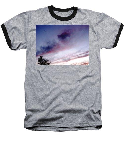 A Sliver Of Moon Baseball T-Shirt