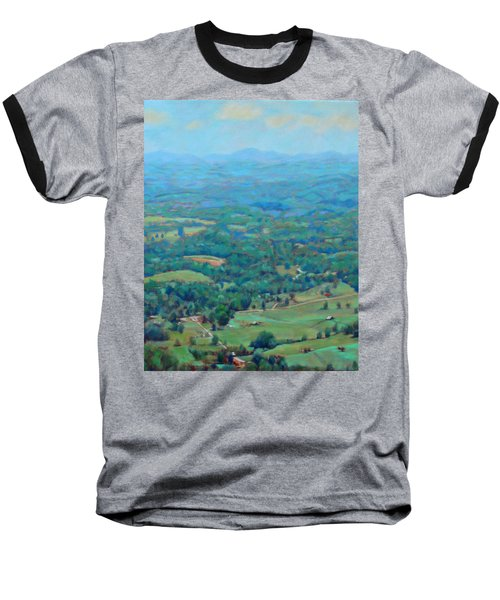 A Slow Summer's Day- View From Roanoke Mountain Baseball T-Shirt by Bonnie Mason