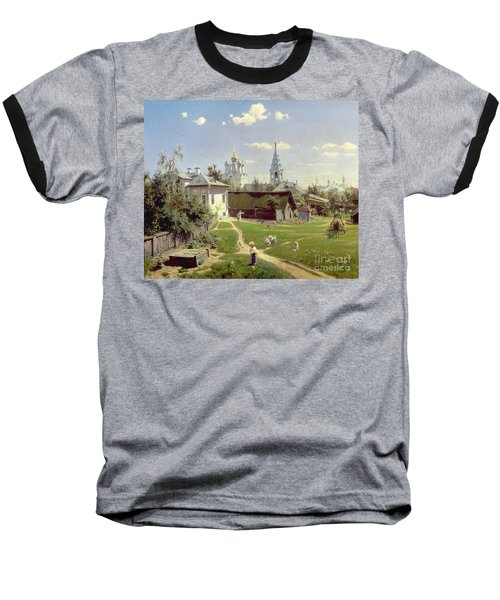 A Small Yard In Moscow Baseball T-Shirt by Vasilij Dmitrievich Polenov