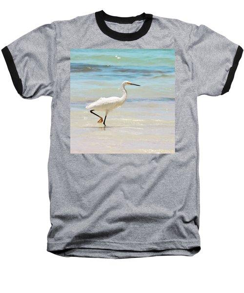 A Snowy Egret (egretta Thula) At Mahoe Baseball T-Shirt