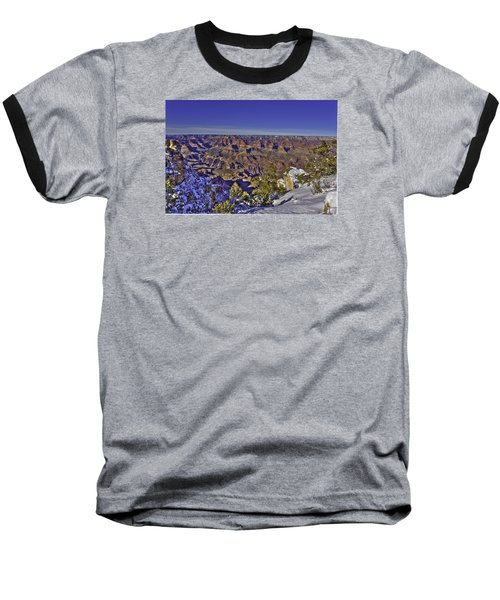 A Snowy Grand Canyon Baseball T-Shirt