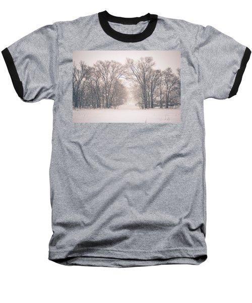A Snowy Monday Baseball T-Shirt