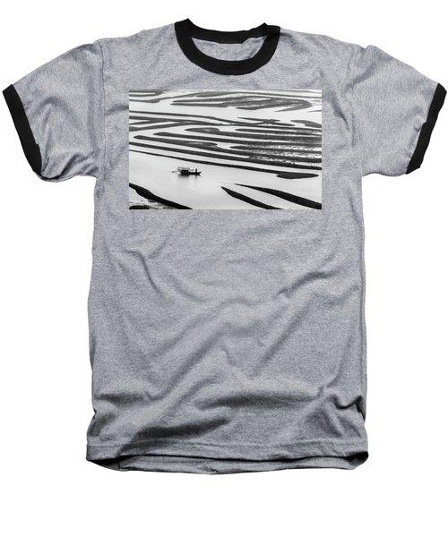 A Solitary Boatman. Baseball T-Shirt