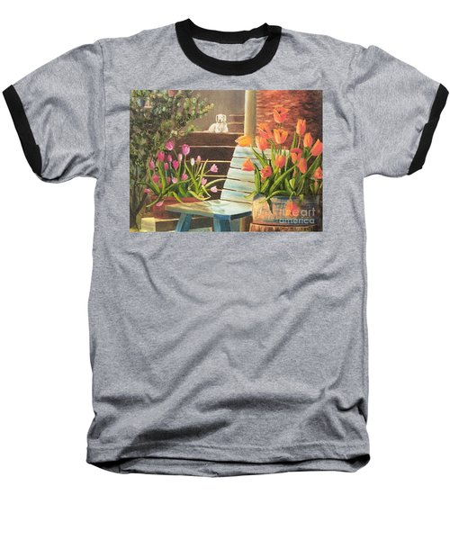 Baseball T-Shirt featuring the painting A Special Place by Renate Nadi Wesley