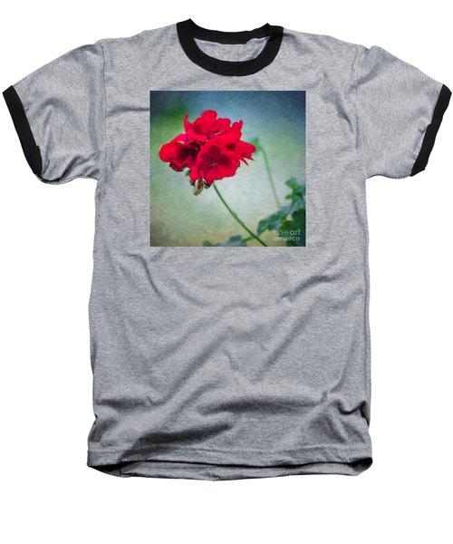 A Splash Of Red Baseball T-Shirt by Betty LaRue