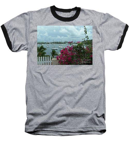 A St Maarten Marina Baseball T-Shirt