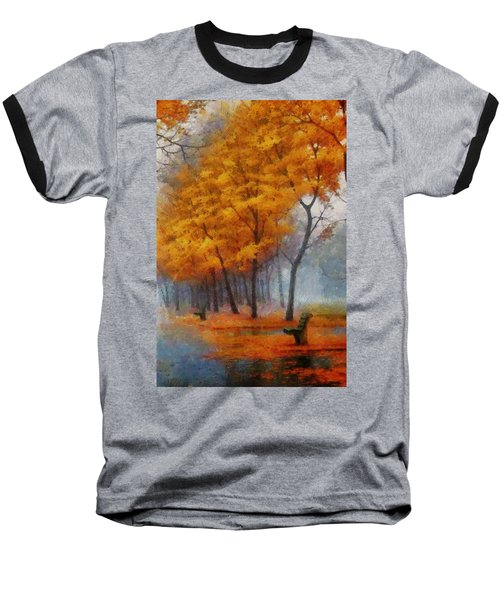 A Stand For Autumn Baseball T-Shirt by Mario Carini