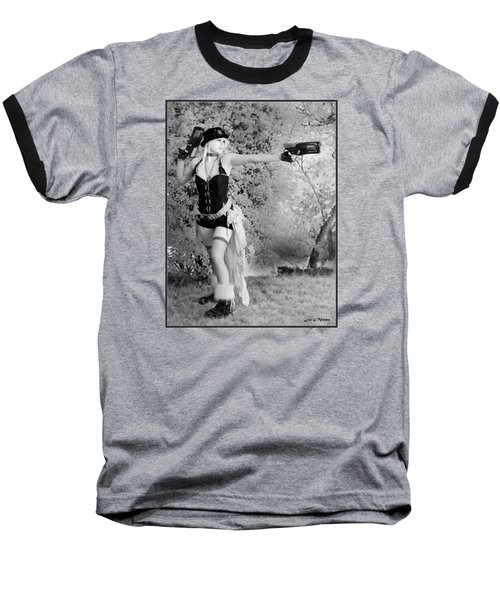 A Steam Punk Heroine Baseball T-Shirt