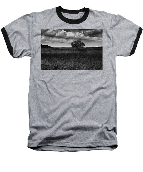 Baseball T-Shirt featuring the photograph A Storm Is Coming To Wyoming Grasslands by Jason Moynihan