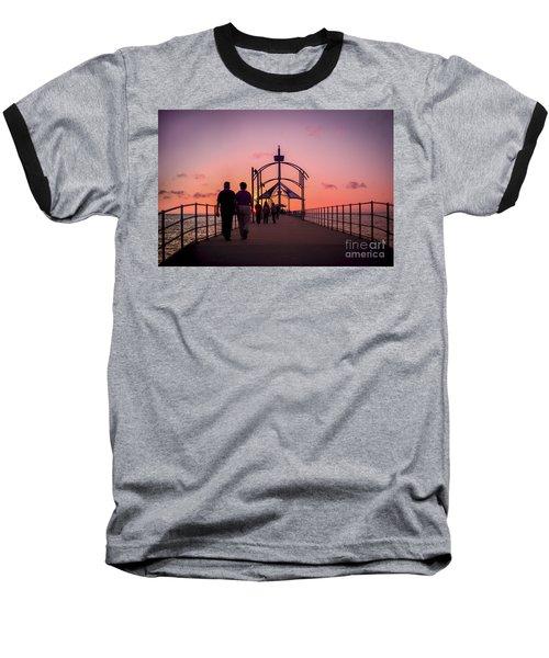 A Stroll Along Sunset Pier Baseball T-Shirt