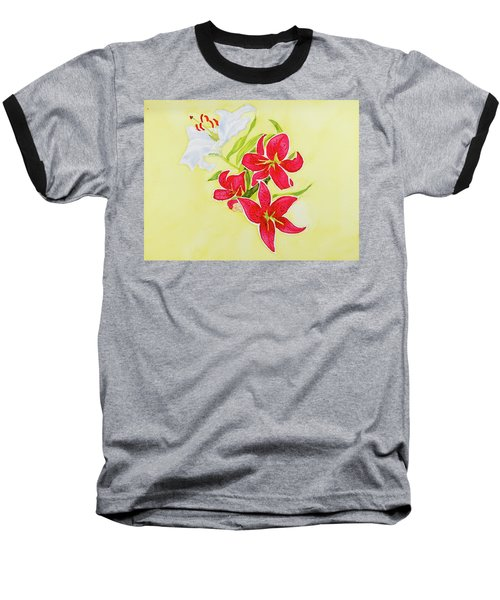 A Study Of Lilies Baseball T-Shirt