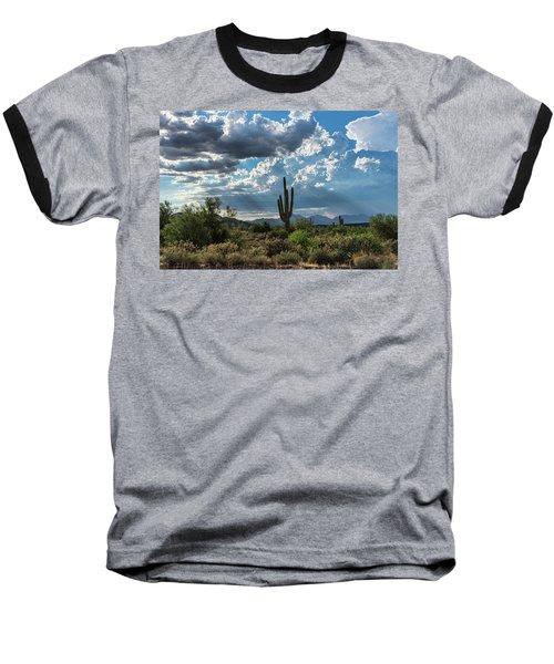 Baseball T-Shirt featuring the photograph A Summer Day In The Sonoran  by Saija Lehtonen