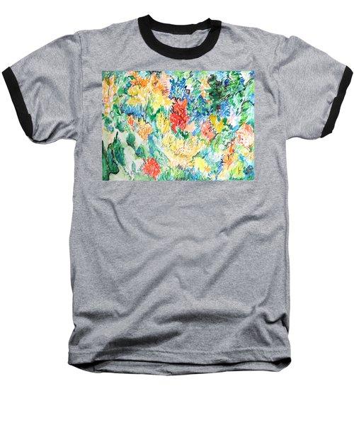 A Summer Garden Frolic Baseball T-Shirt