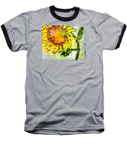 A Sunflower Greeting Baseball T-Shirt