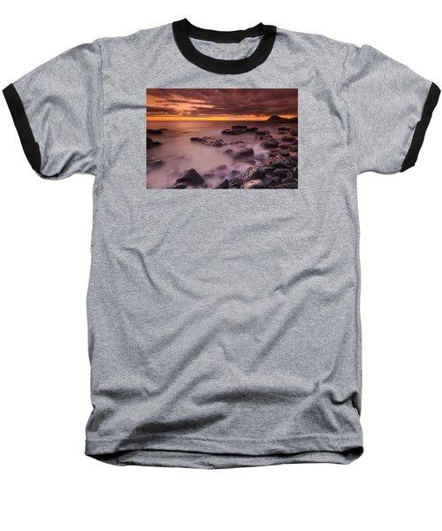 A Sunset At Track Beach Baseball T-Shirt