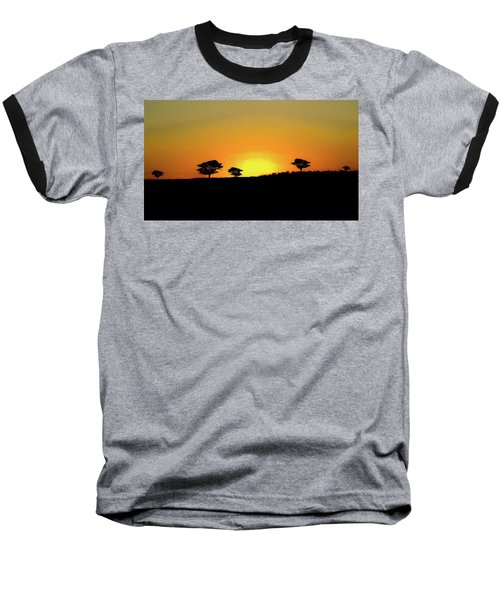 A Sunset In Namibia Baseball T-Shirt by Ernie Echols