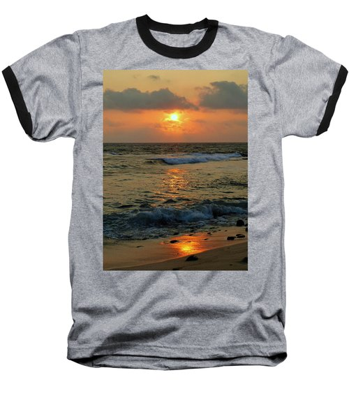 Baseball T-Shirt featuring the photograph A Sunset To Remember by Lori Seaman
