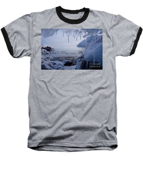 A Superior Ice Cave Baseball T-Shirt by Sandra Updyke