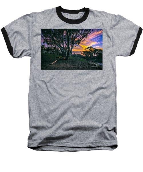 A Swinging Sunset From The Secret Swings Of La Jolla Baseball T-Shirt