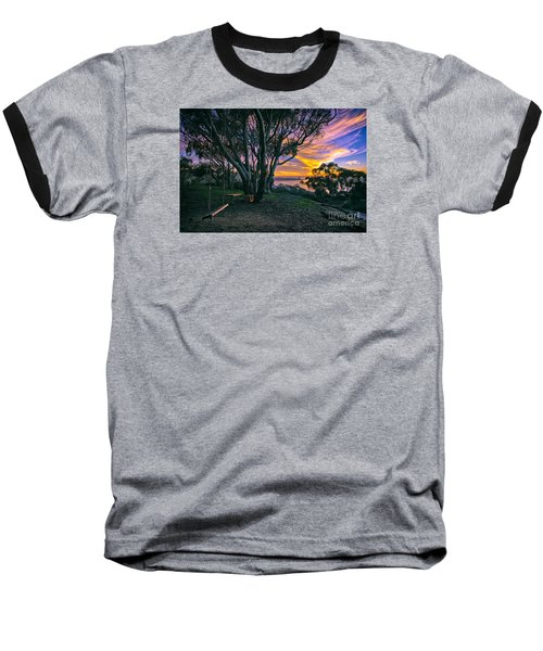 A Swinging Sunset From The Secret Swings Of La Jolla Baseball T-Shirt