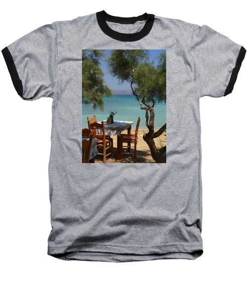 A Table Underneath The Welcoming Shade Baseball T-Shirt
