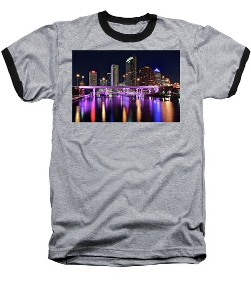 A Tampa Night Baseball T-Shirt by Frozen in Time Fine Art Photography