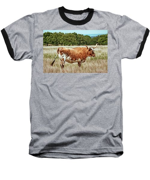 Baseball T-Shirt featuring the photograph A Texas Legend by Linda Unger