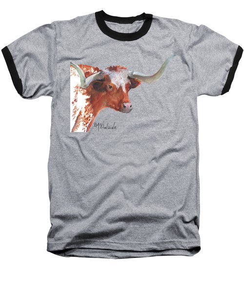 A Texas Longhorn Portrait Baseball T-Shirt