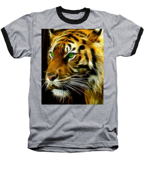 A Tiger's Stare Baseball T-Shirt