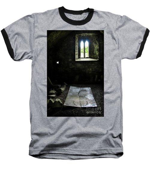 Baseball T-Shirt featuring the photograph A Tombstone In Sligo Abbey by RicardMN Photography