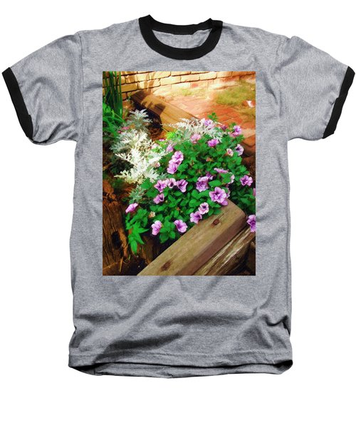 Baseball T-Shirt featuring the painting A Touch Of Nature by Sandy MacGowan