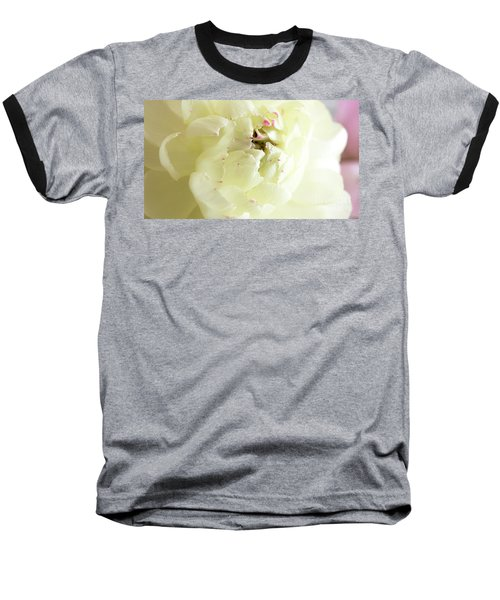 Baseball T-Shirt featuring the photograph A Touch Of Pink by Wendy Wilton