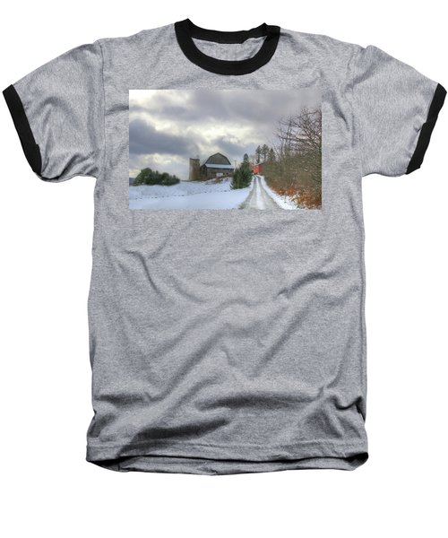 Baseball T-Shirt featuring the photograph A Touch Of Snow by Sharon Batdorf