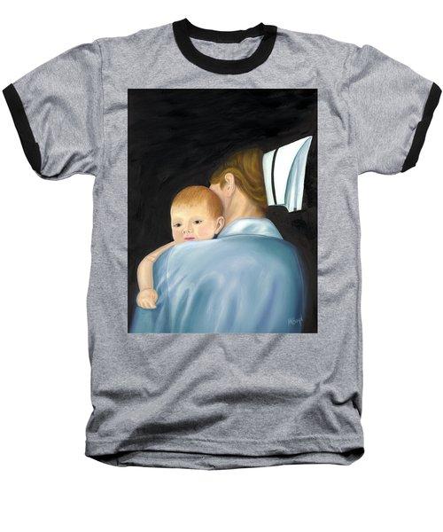 Comforting A Tradition Of Nursing Baseball T-Shirt by Marlyn Boyd