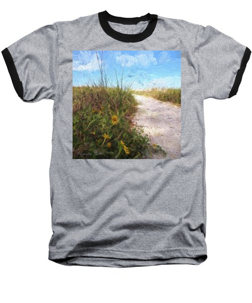 A Trail To The Beach Baseball T-Shirt