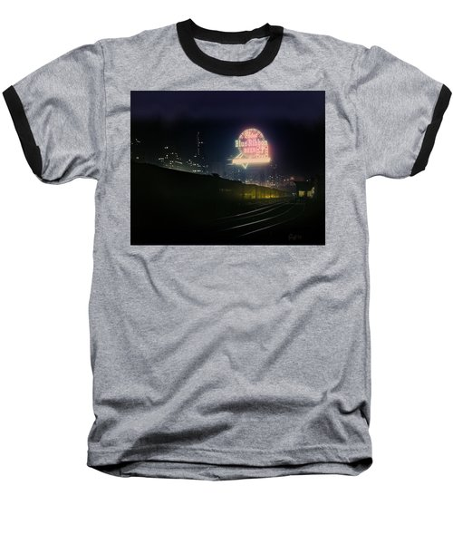 A Train's A Comin' 1948 Baseball T-Shirt by J Griff Griffin